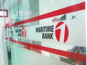 Decal trong dán lên kiếng cửa ra vào ngân hàng Maritimebank