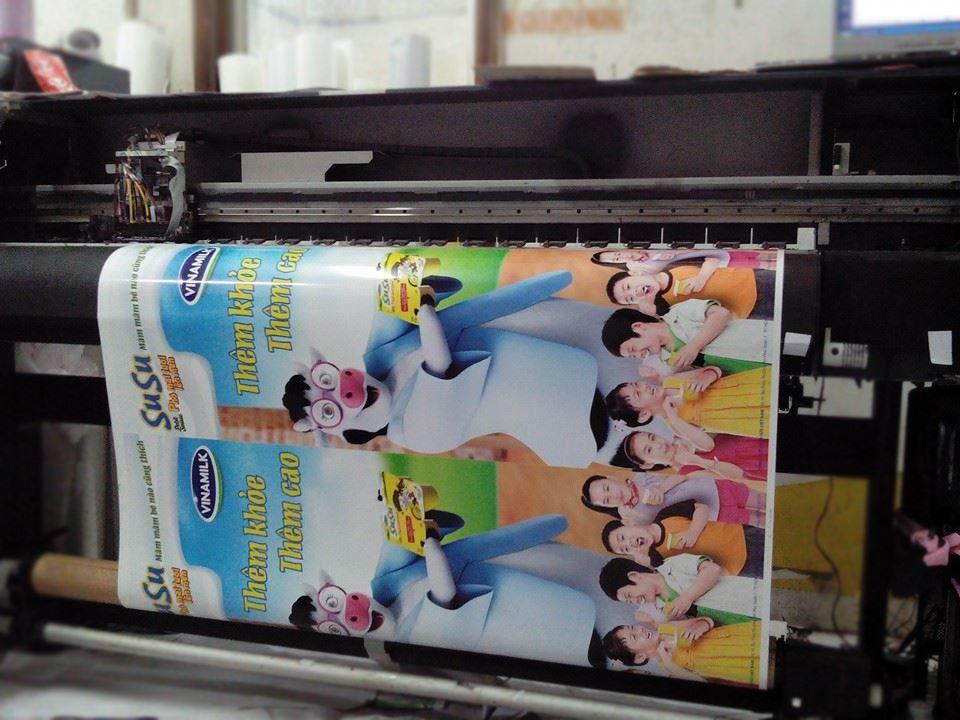 In decal quảng cáo sữa susu