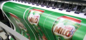 In pp trong nhà quảng cáo cho Milo