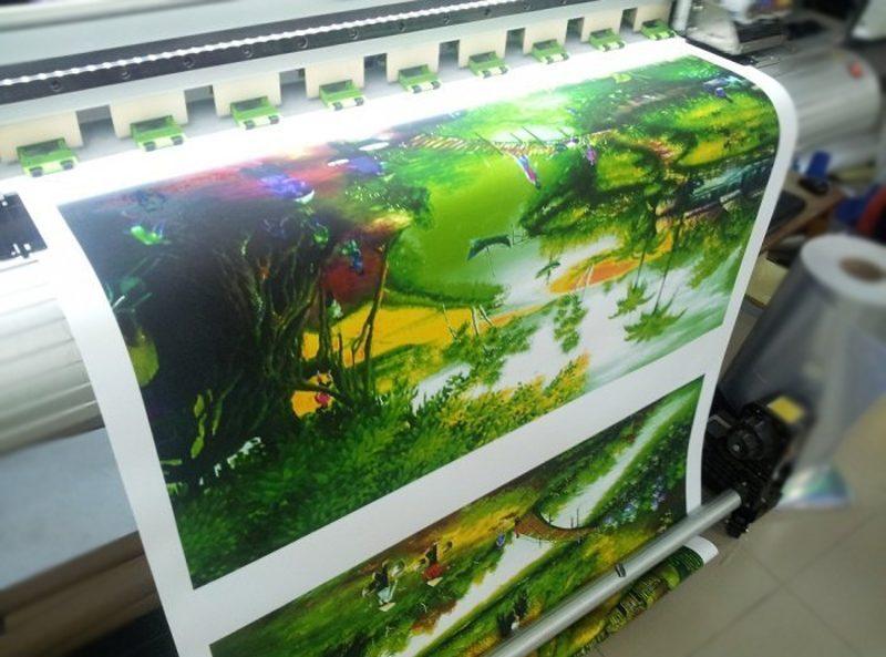 In tranh sơn thủy bằng vải canvas