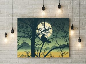 In tranh treo tường bằng vải canvas với độ nét cao