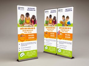 Standee trung tâm anh ngữ Cleverlearn