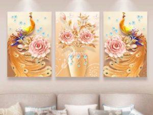 Tranh treo tường in bằng vải canvas