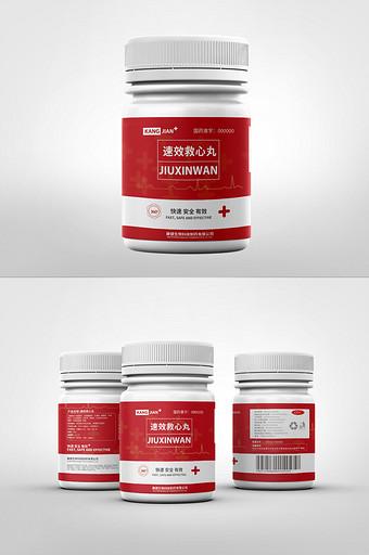 không khí đơn giản màu đỏ cứu hộ bao bì thuốc tim